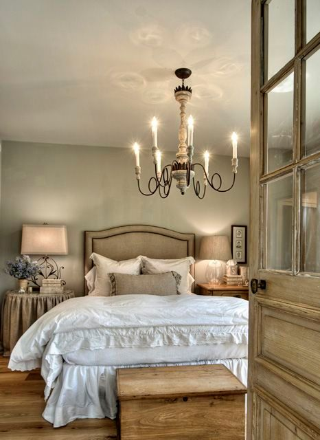 French farmhouse master bedroom