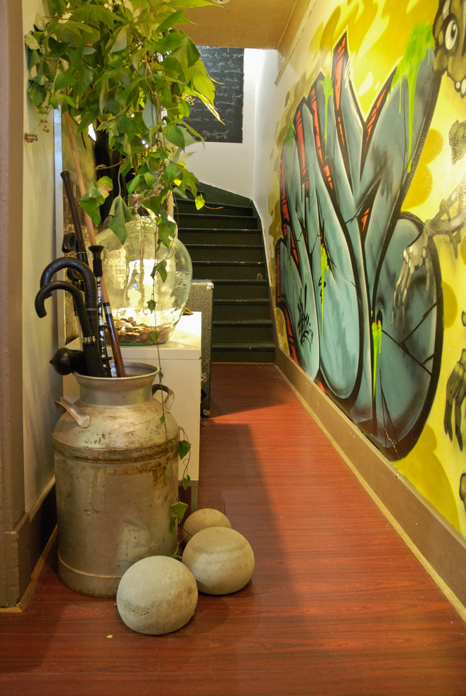 Gallery-in-Entry-Eclectic-design-ideas