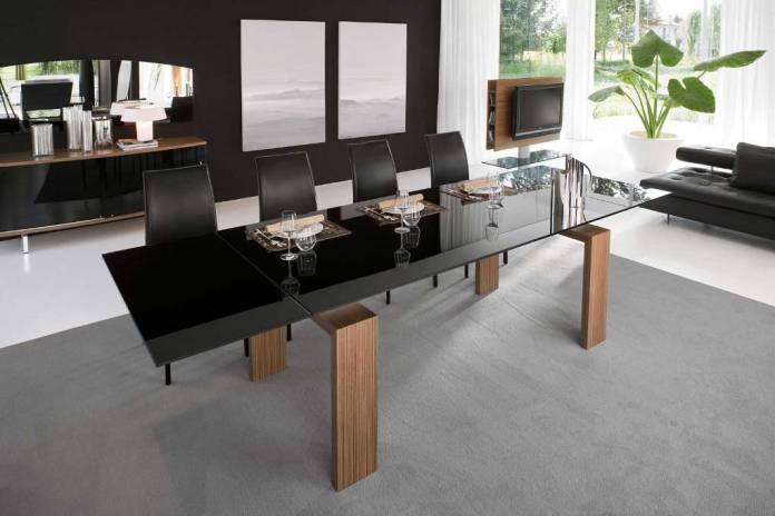 Luxury Modern Dining Room Design With Black Tables