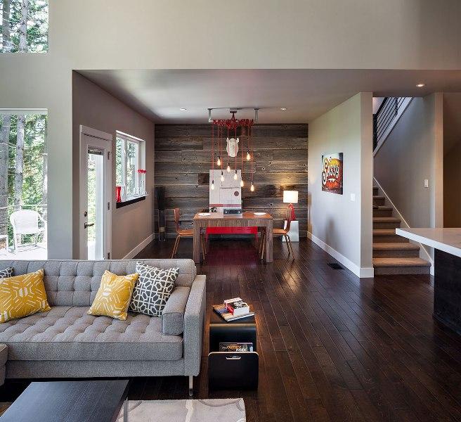 Rustic Modern Living Room Photo