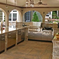 Outdoor Kitchen Cabinets Stainless Steel Counter Lights Designing The Perfect Backyard Cooking