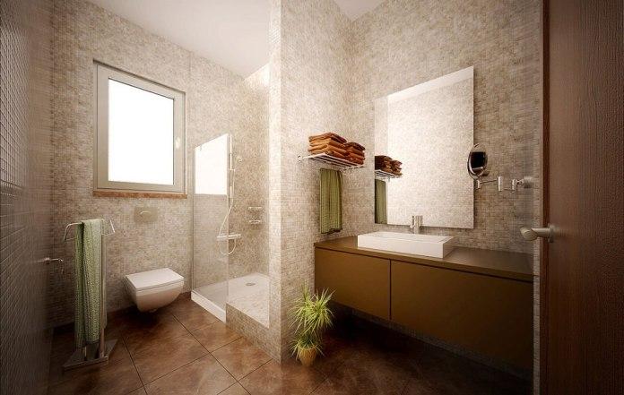 Striking Bathroom Design 2016 With Wooden cabinet