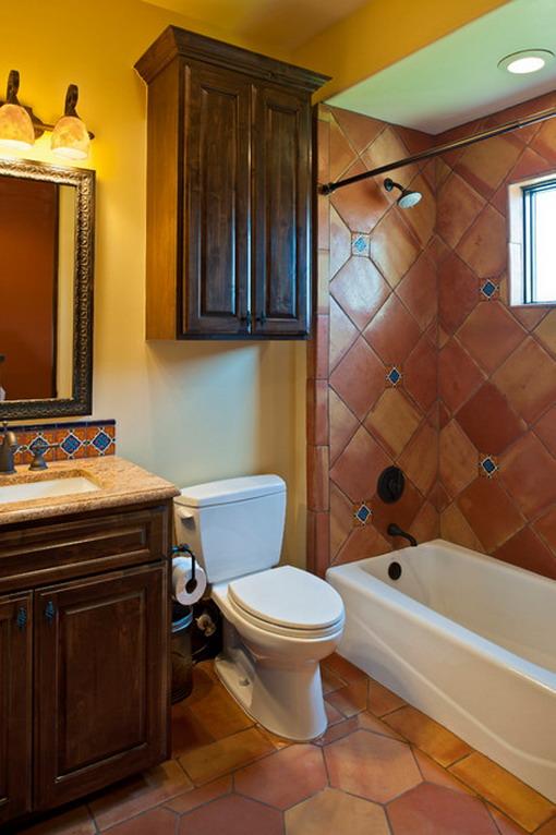 Yellow-Mediterranean-Bathroom-Interior-Design