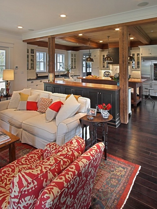 red-traditional-living-room