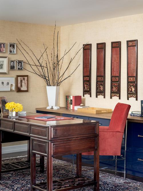 Asian Home Office Design Idea
