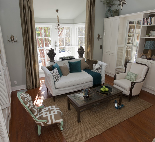 Austin Modern Farmhouse farmhouse-living-room