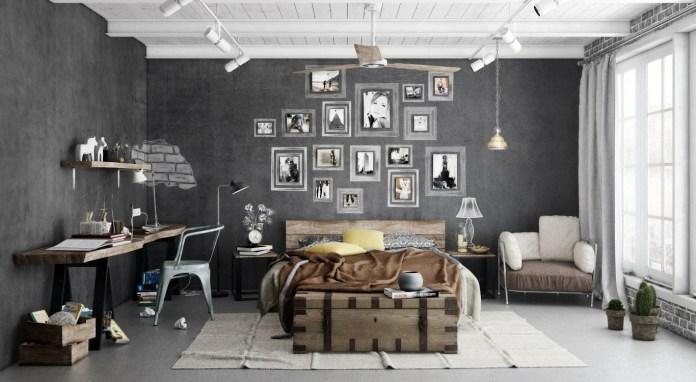 Bold Indsutrial Bedroom