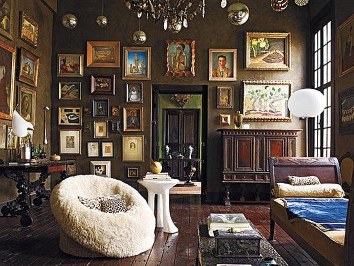 Brown-Bohemian-Living-Room