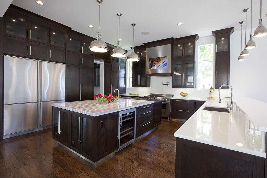 Contemporary Kitchen Large Ceramic Tile