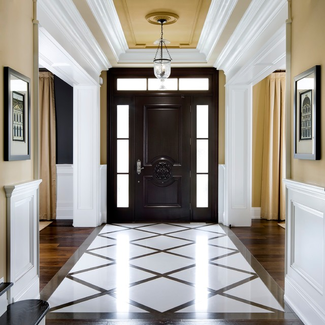 Custom Home traditional-entry