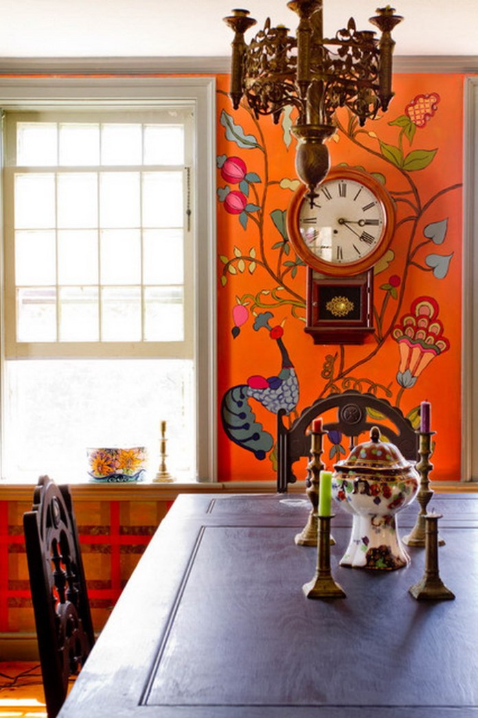 Eclectic Dining Room Wall Murals Ideas