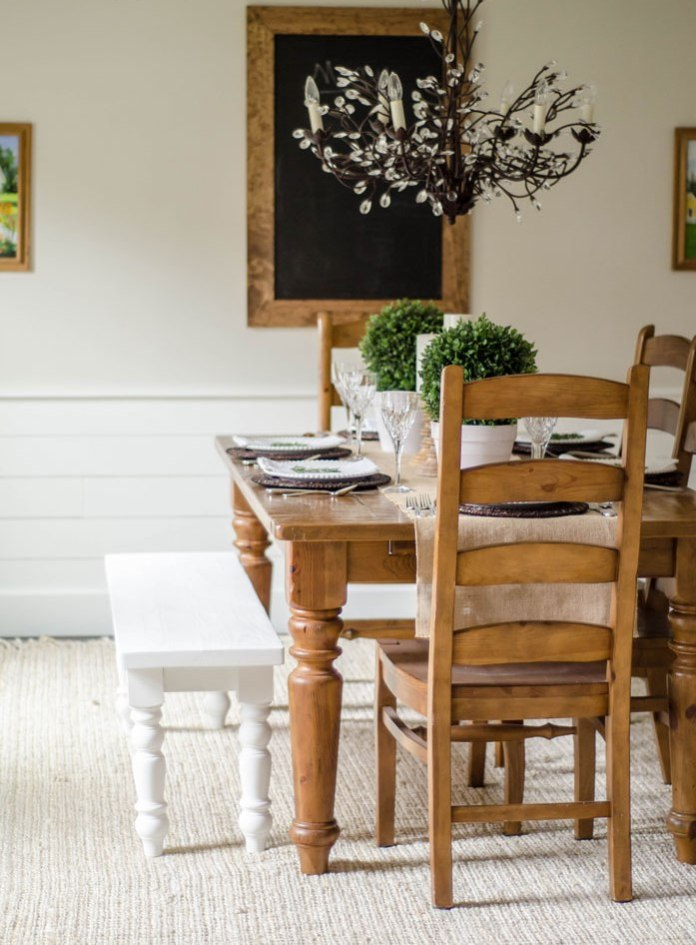 Modern Farmhouse Dining Room Décor Pictures