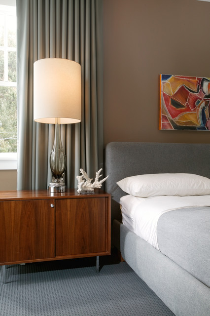 Modern Grey Bedroom midcentury-bedroom
