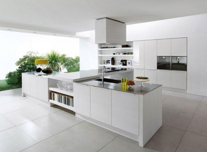 Modern Kitchen White Cabinets