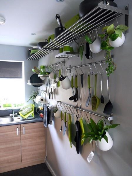 creative hanging kitchen storage