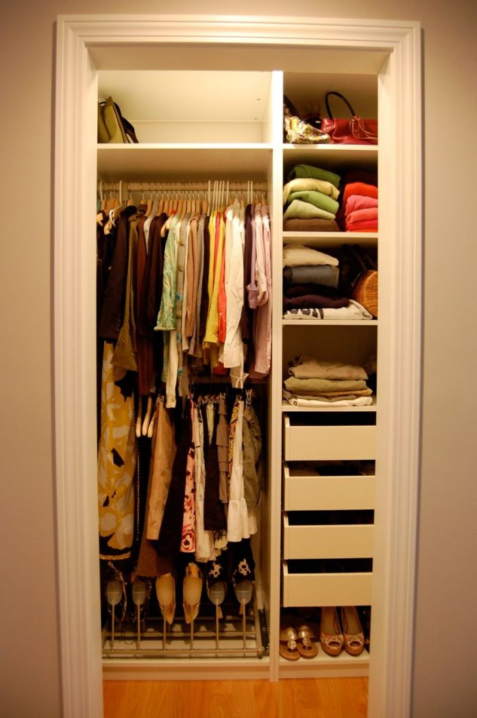 modern storage ideas for small bedroom closets