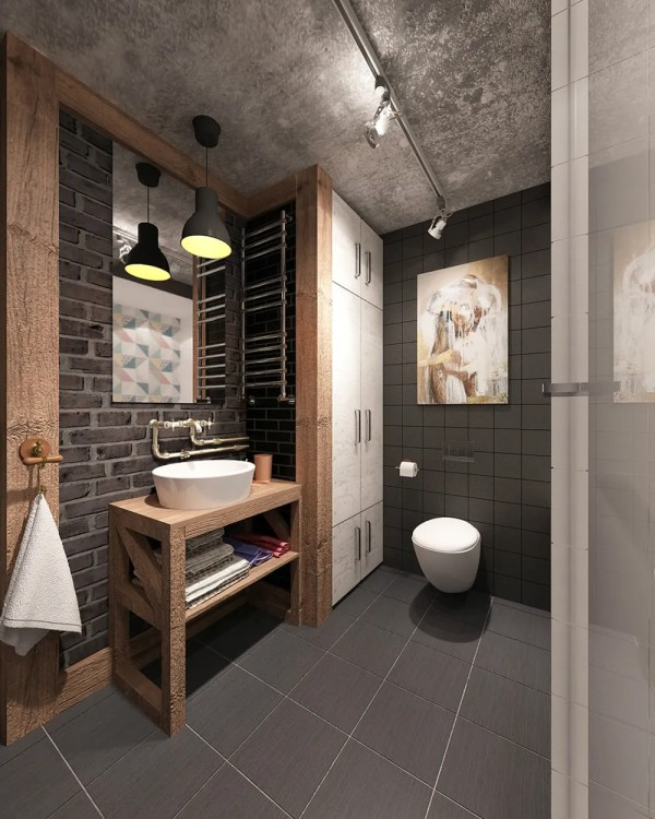 Industrial Bathroom Design Ideas