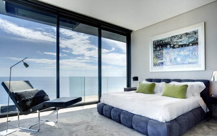 Comfortable Sea View Bedroom Interior