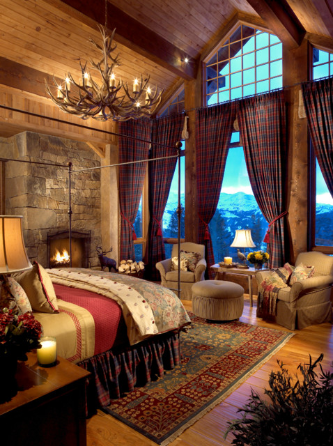 Rustic Warm Cozy Bedroom Interior