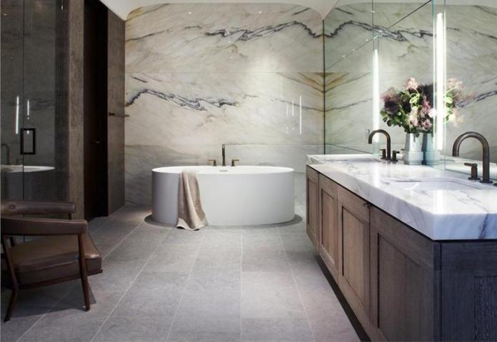 Transitional Eclectic Light Bathroom