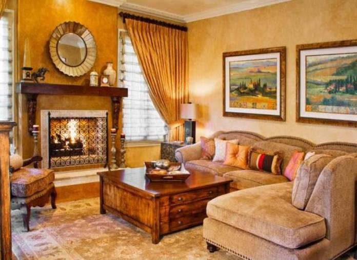 Tuscan Living Room Ideas (12)