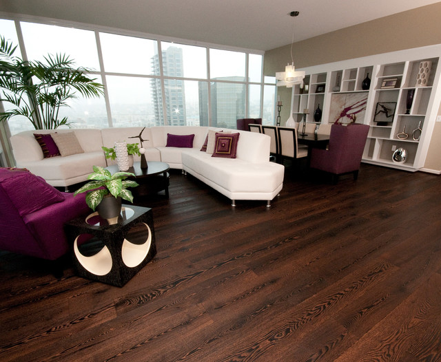 Contemporary Wide Plank Wood Floors