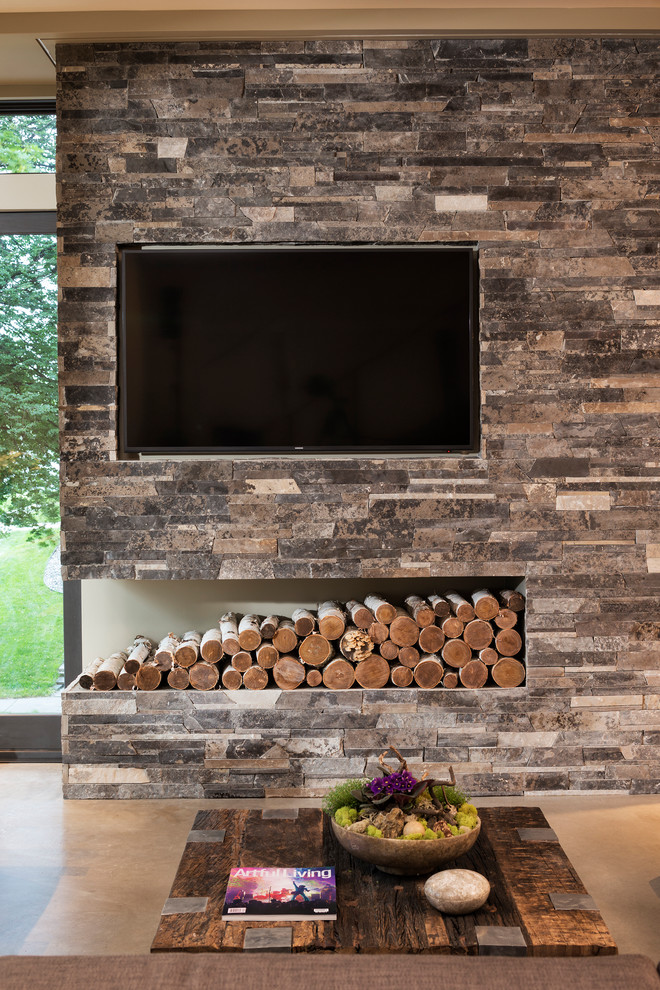 Exposed Granite Wall With Inbuilt Led
