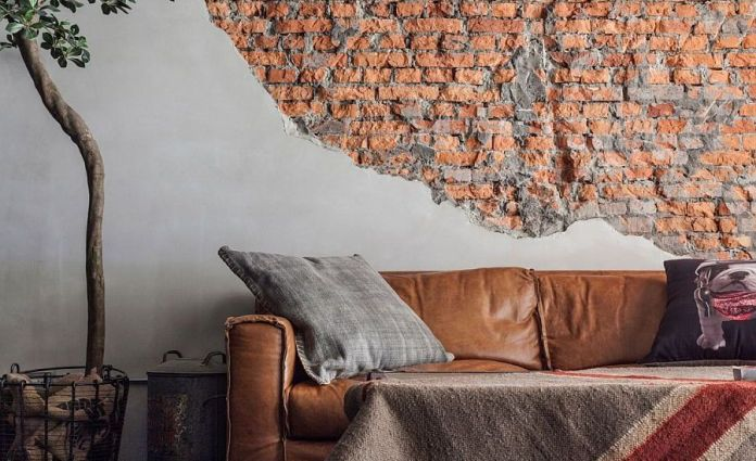Living Room With Exposed Brick Wall (24)