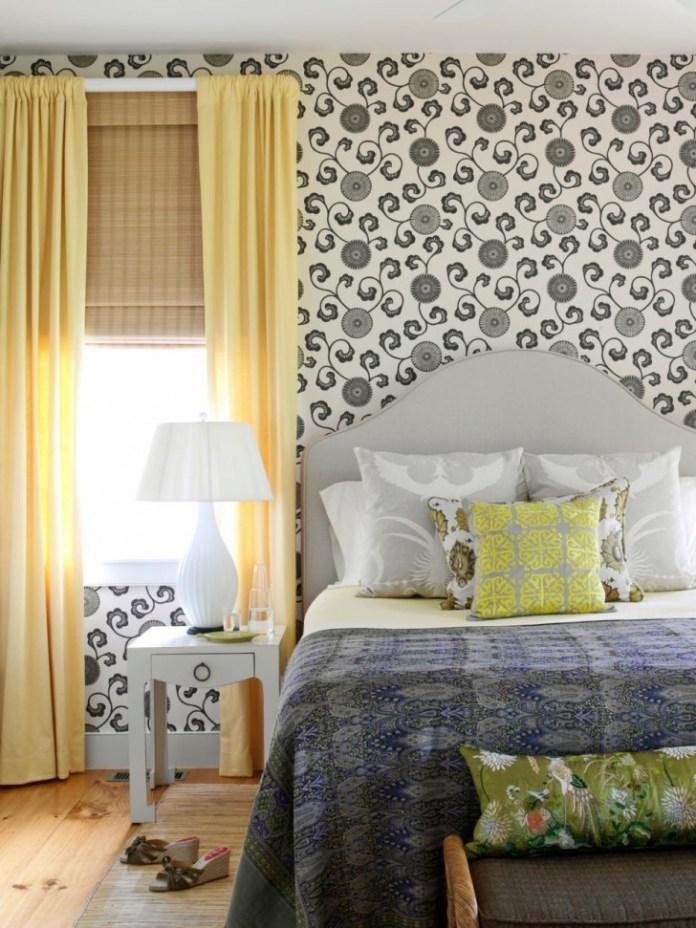 Monochrome Black And White Bedroom Wallpaper