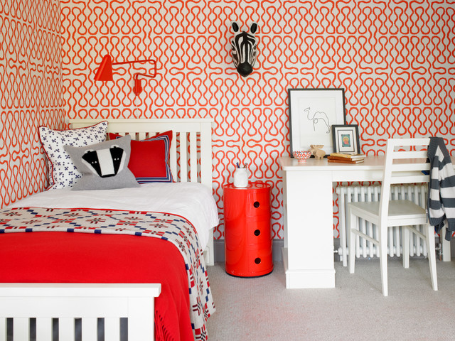Red & White Scheme Wallpaper
