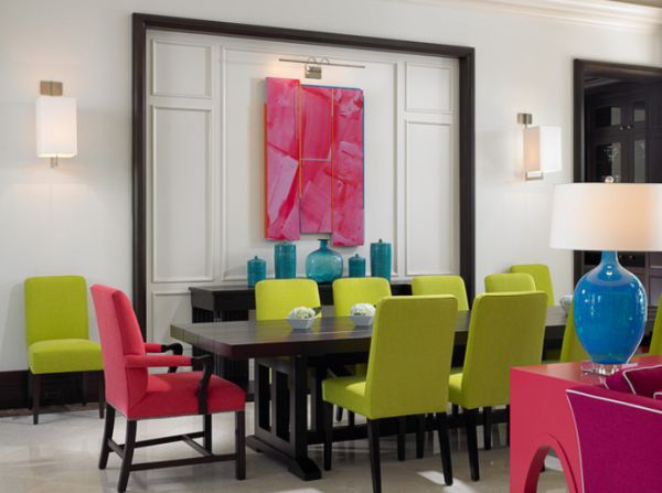 Stunning Colorful Dining Room (10)
