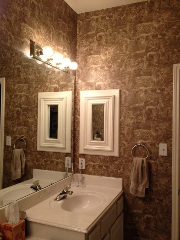 Texture Bathroom Wallpaper