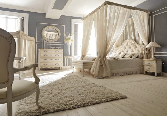 Traditional Romantic Bedroom with Beautiful Rug