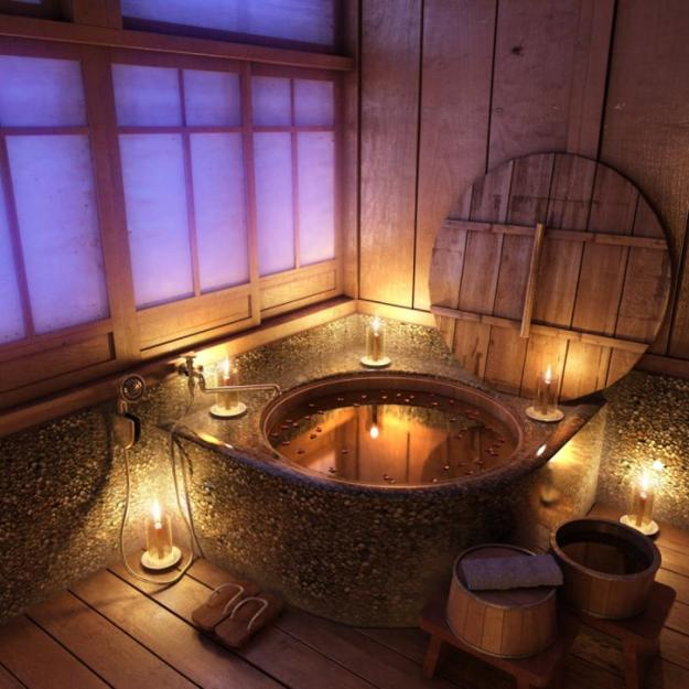 Amazing Bathrooms With Wooden Bathtub (23)