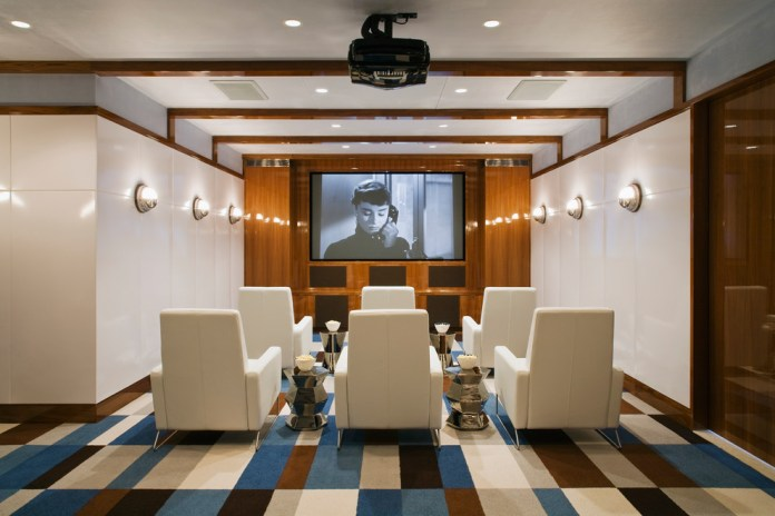 Beach Style Home Theater