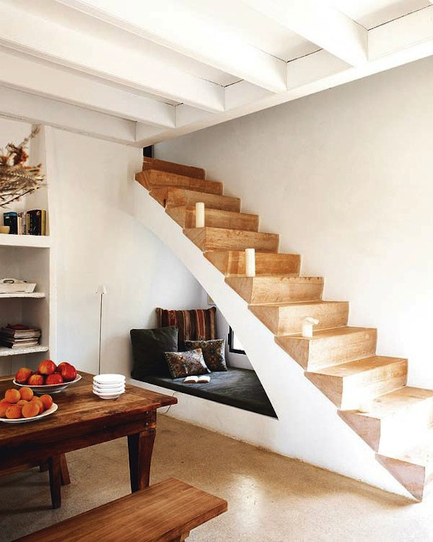 Creative Under Stairs seating area