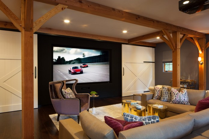 Farmhouse Home Theater Design