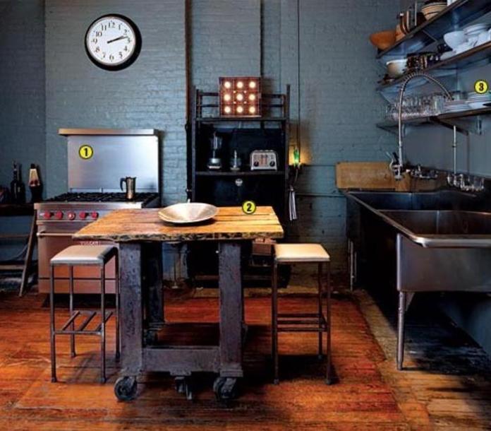 dark-blue-industrial-kitchen
