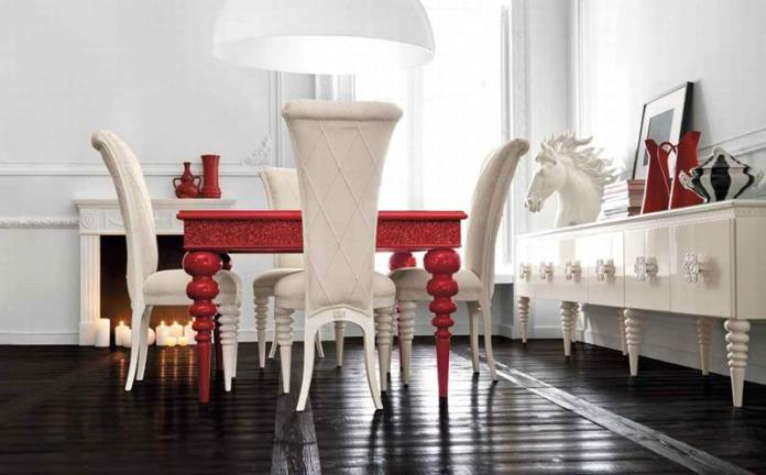 red-and-white-luxurious-dining-room-design