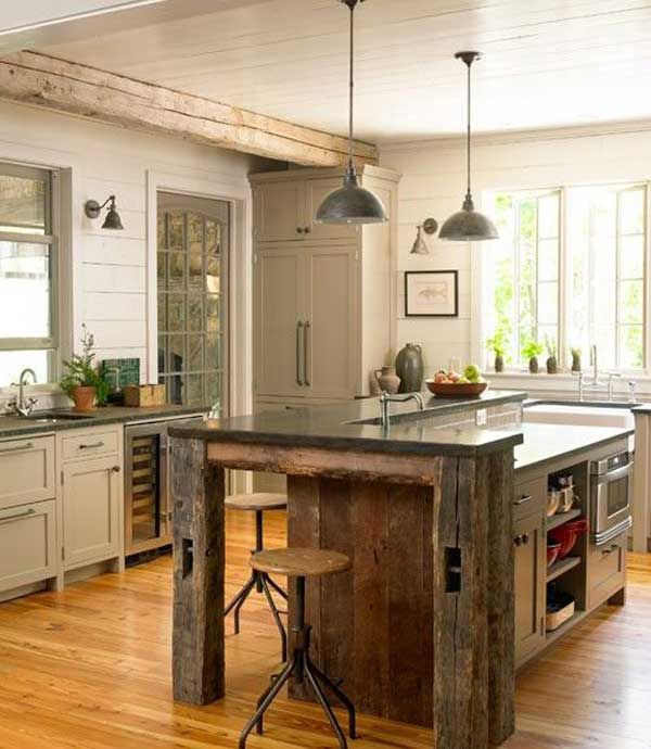rustic-homemade-kitchen-islands