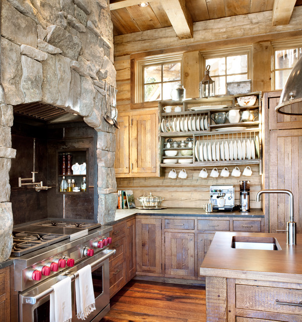 rustic-kitchen-with-rock-wall