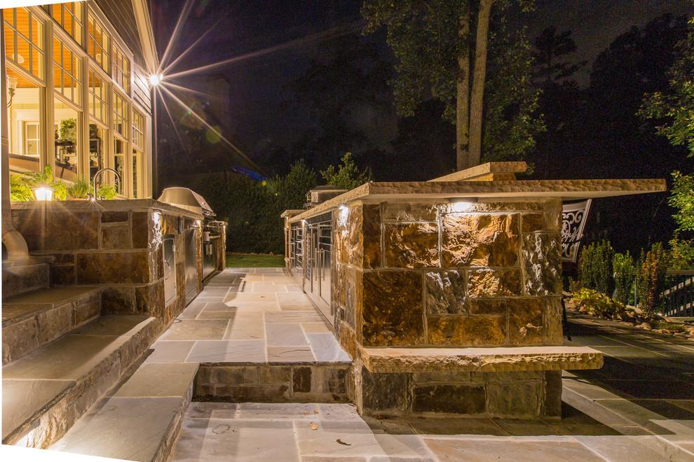 Craftsman Porch Design With Outdoor Kitchen