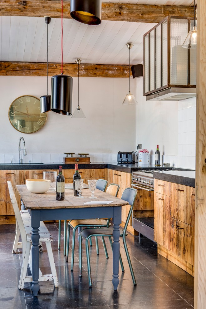 Eclectic L-Shaped Kitchen