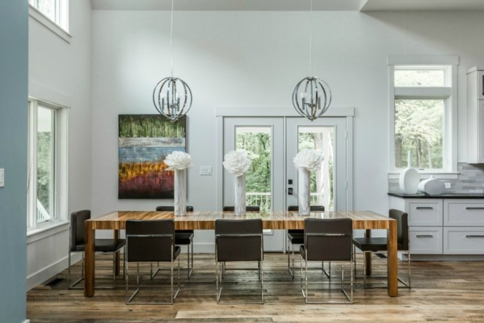 Rustic Contemporary Dining Room