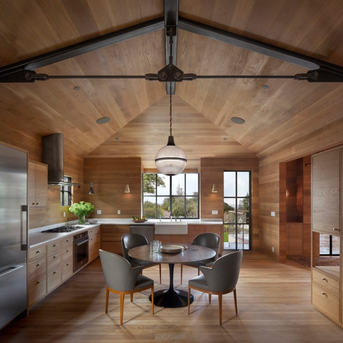 Rustic L-Shaped Kitchen