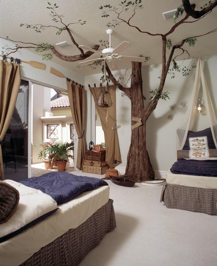 Mediterranean Kids Bedroom Design