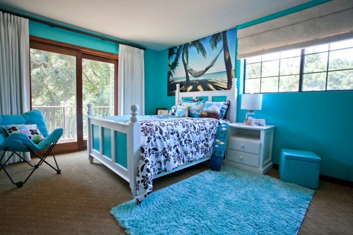 Tropical Colorful Kids Bedroom