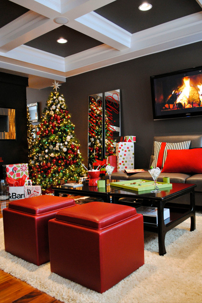 Contemporary Black and Red Christmas Decoration