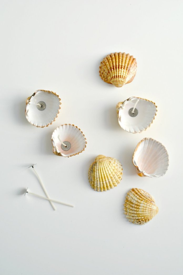 DIY Handmade Shell Candles