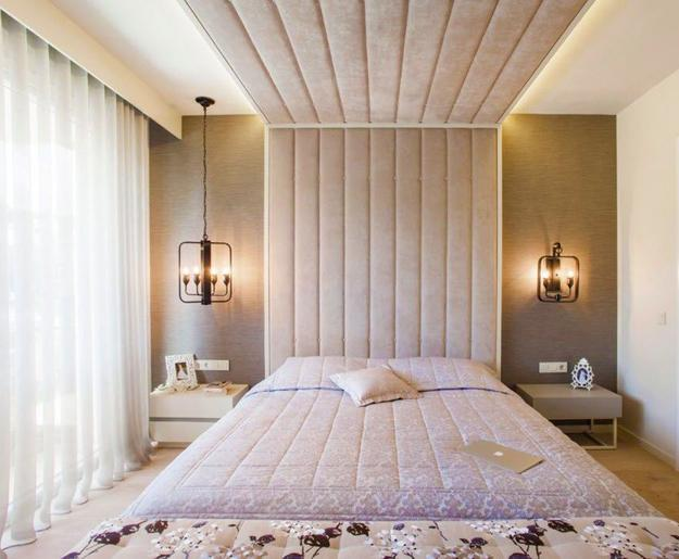 Modern Bedroom Design With Accent Wall And Ceiling Designs